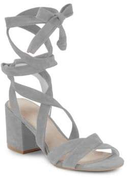 Kenneth Cole New York Victoria Lace-Up Block Heel Sandals