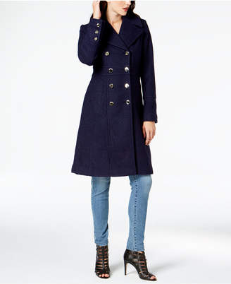 GUESS Double-Breasted Military Peacoat