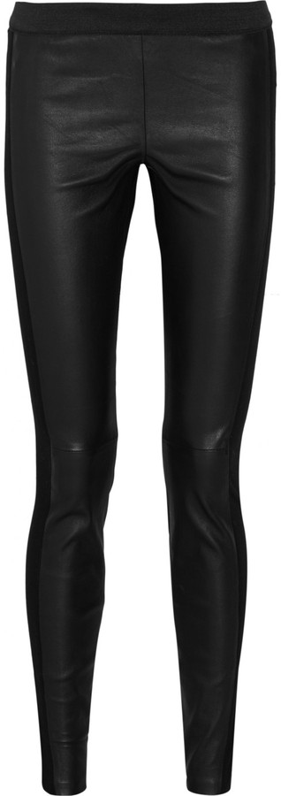 By Malene Birger Kaysia leather and stretch-jersey leggings