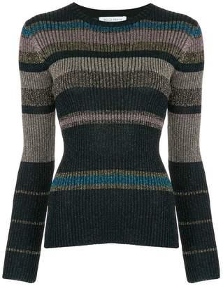 Bella Freud Joan Didion stripe knitted sweater