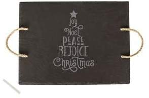 Cathy's Concepts Holiday Cheer Christmas Tree Slate Serving Board