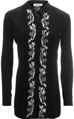 A.N.A Button Front Embroidered Blouse - Women's