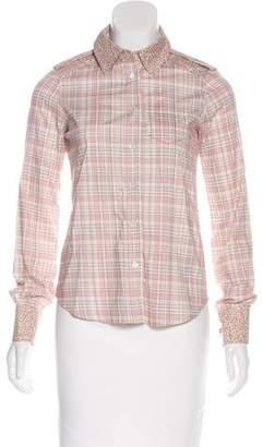 Marc Jacobs Plaid Button-Up Top