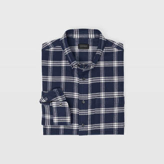 Club Monaco Slim Fall Plaid Flannel Shirt