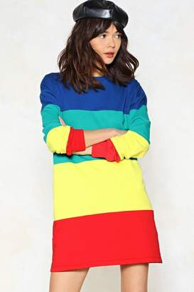 Nasty Gal Look On the Bright Side Sweater Dress