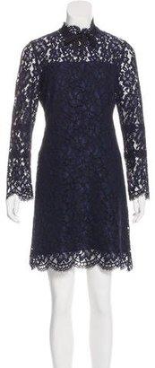 Sandro Lace Mock Neck Dress $95 thestylecure.com