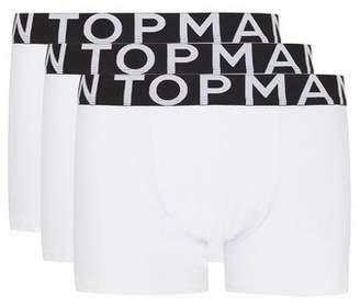 Topman Mens White Trunks 3 Pack*