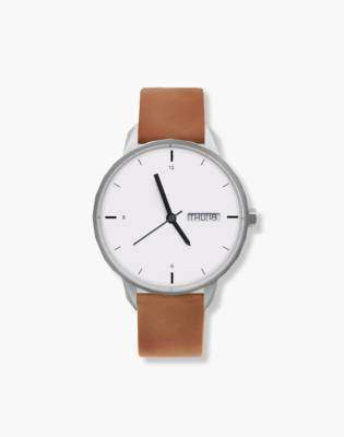 Madewell Tinker 42mm Silver-Toned Watch