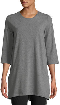 Eileen Fisher Half-Sleeve Jersey Tunic w/ Pockets