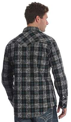 Wrangler Men's Size Rock 47 Tall Long Sleeve Snap Front Shirt