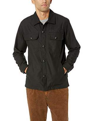 Obey Men's Station Military Shirt Jacket