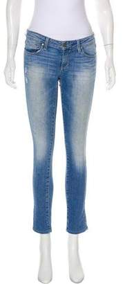 Paige Skyline Ankle Low-Rise Jeans