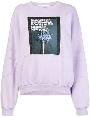 Each X Other front printed loose sweatshirt