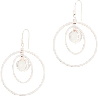 Robert Lee Morris Rlm Jewelry By RLM White Bronze Hammered Ball Orbital Earrings