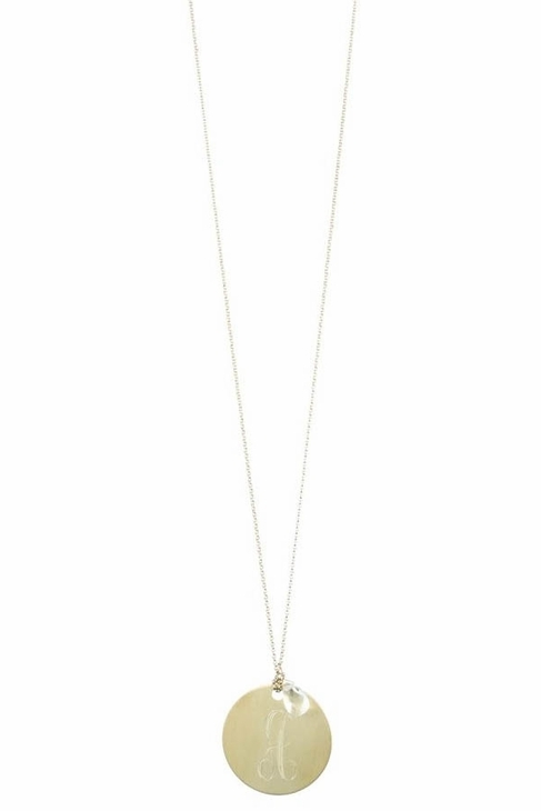 Danielle Stevens Jewelry Engraved Necklace in Gold
