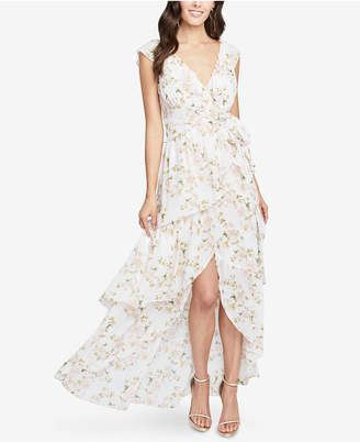 Rachel Roy Floral-Print Ruffled High-Low Maxi Dress