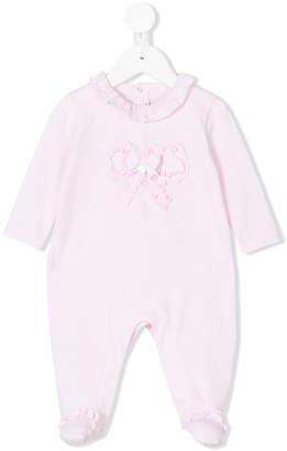 Le Bebé Enfant bow ribbon detail pyjama