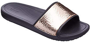Crocs Slide Sandals - Sloane Hammered Met Slide