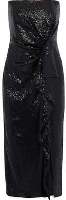 Rachel Zoe Krista Strapless Sequined Tulle Midi Dress