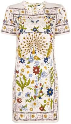 Tory Burch floral printed short dress