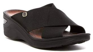 BZEES Desire Wedge Sandal - Wide Width Available