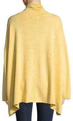 eskandar Cowl-Neck Long-Sleeve A-Line Cashmere-Blend Top