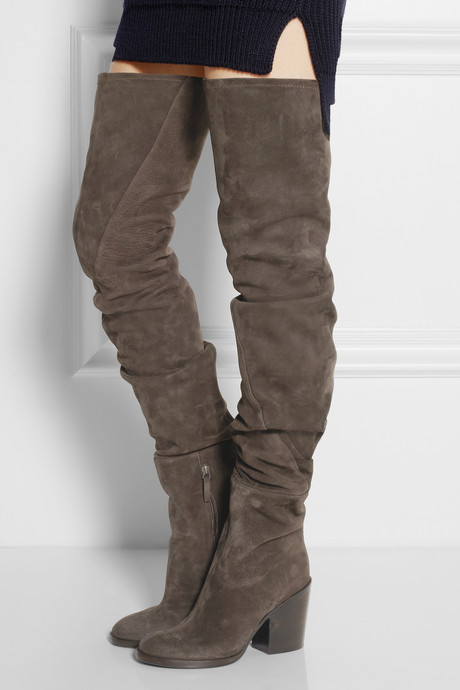 Haider Ackermann Suede over-the-knee boots
