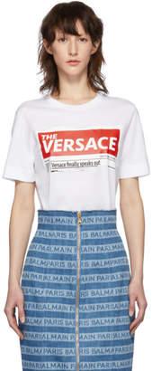 Versace White Tabloid T-Shirt