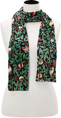 Joe Browns Womens Floral Velour Scarf Green Multicoloured One Size