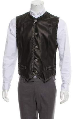 Gianni Versace Chain Embellished Leather Vest w/ Tags