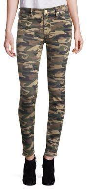 True Religion Halle Camo Super Skinny Jeans $179 thestylecure.com