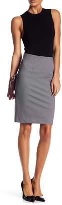 Adrianna Papell Amanda & Chelsea Micro Houndstooth Stretch Seam Skirt