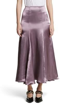BEAUFILLE Cassini Satin Slip Skirt