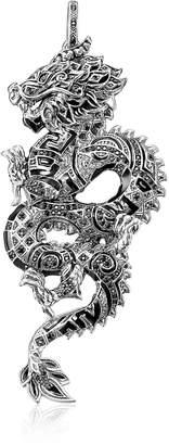 Thomas Sabo Blackened Sterling Silver Dragon Pendant w/Black Cubic Zirconia