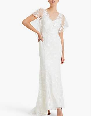 Phase Eight Bridal Layla Wedding Dress, Pale Cream