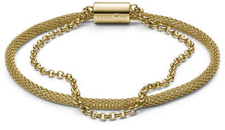 Fossil Double-Strand Mesh and Gold-Tone Stainless Steel Bracelet
