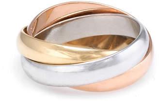 Cartier Heritage  Trinity 18K Tri-Tone Size 4.25 Ring