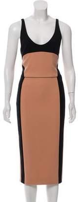Narciso Rodriguez Gabardine Midi Dress