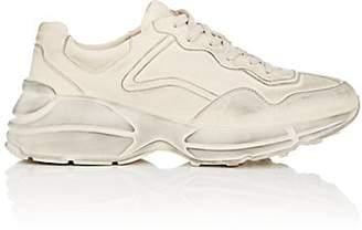 Gucci Men's Rhyton Leather Sneakers - White