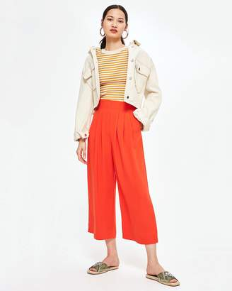 Topshop Wide Cropped Trousers