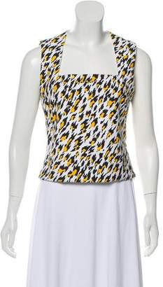 Thierry Mugler Sleeveless Patterned Top