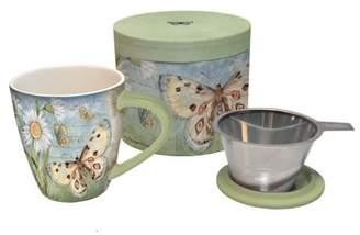 Lang Butterfly Daisy Tea Infuser Mug