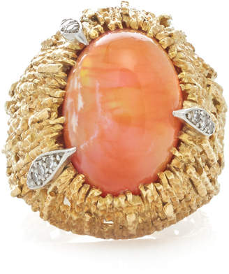Mahnaz Collection Limited Edition 18K Gold And Fire Opal Ring By Andrew Grima 1972.