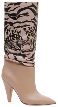 Valentino Tiger Slouch Boot