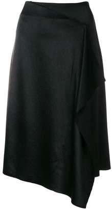 Cédric Charlier draped asymmetric skirt