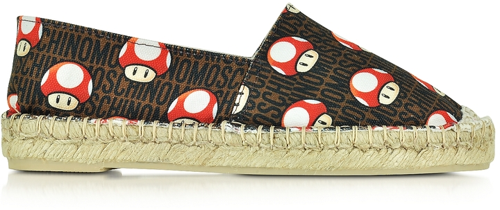 Moschino Moschino Super Mushrooms Canvas Espadrille