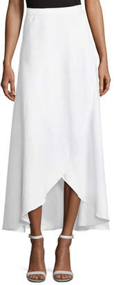 Miguelina Ballerina Cotton Wrap Long Coverup Skirt