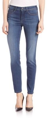 NYDJ Faded Five-Pocket Legging Jeans $134 thestylecure.com