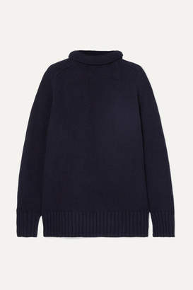 Joseph Sloppy Joe Cotton-blend Turtleneck Sweater - Midnight blue