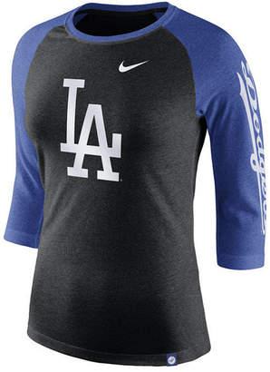 Nike Women's Los Angeles Dodgers Tri-Blend Raglan T-Shirt